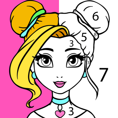 COLORING BY NUMBERS GIRLS